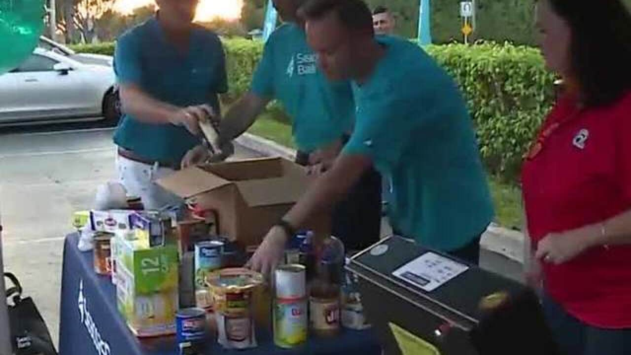 All-day food drive today in Boynton Beach