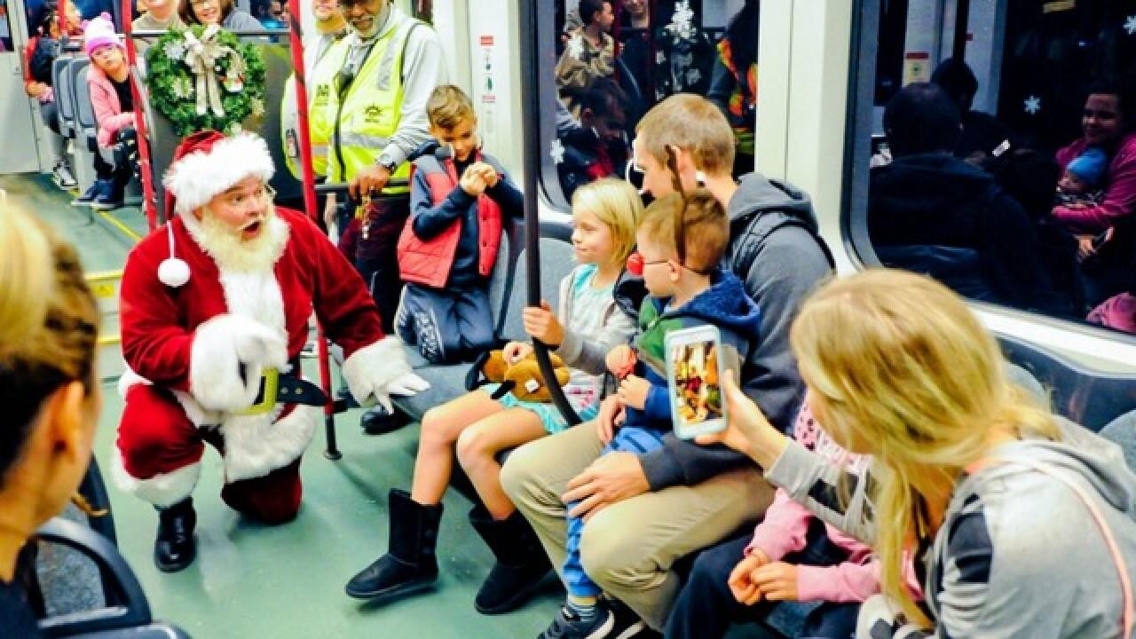 Ride Valley Metro's 'Polar Express' in Mesa, PHX