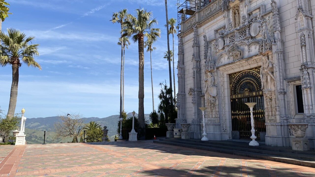 Hearst Castle without any visitors