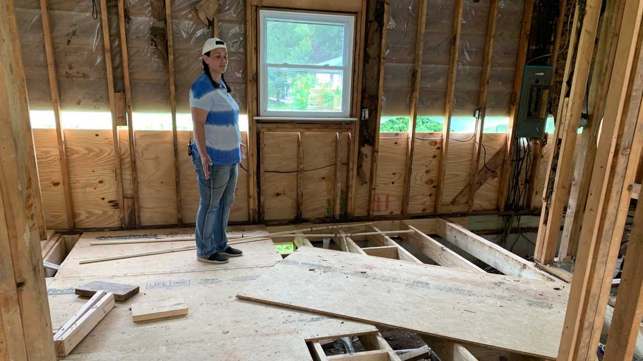 Waverly home after flooding