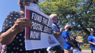 "Friday's rally to ""fight for the future of the USPS"""