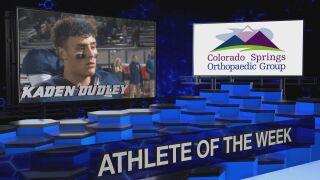 KOAA Athlete of the Week: Kaden Dudley, Palmer Ridge Football