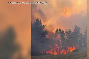 One house burned, dozens evacuated in fire just west of Roundup
