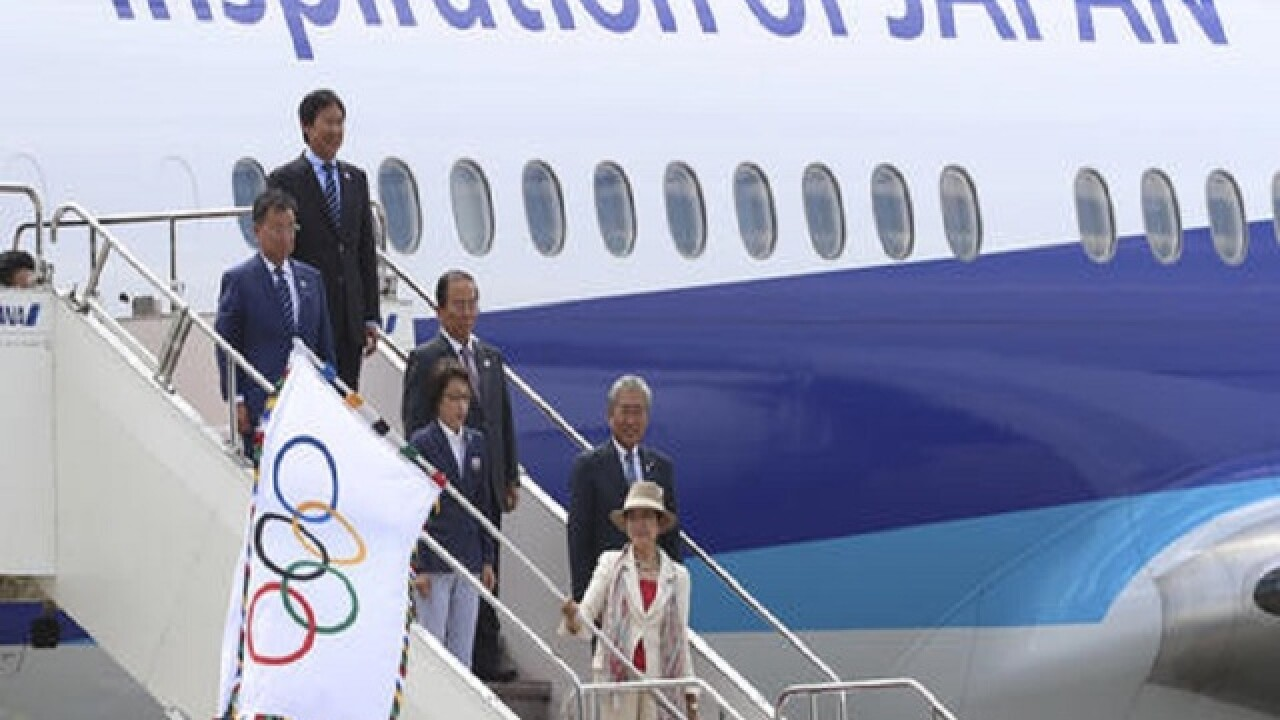 Olympic flag arrives in Tokyo in preparation for next Summer Games