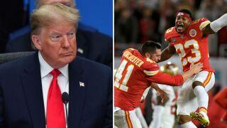 President Trump fumbles tweet congratulating Chiefs