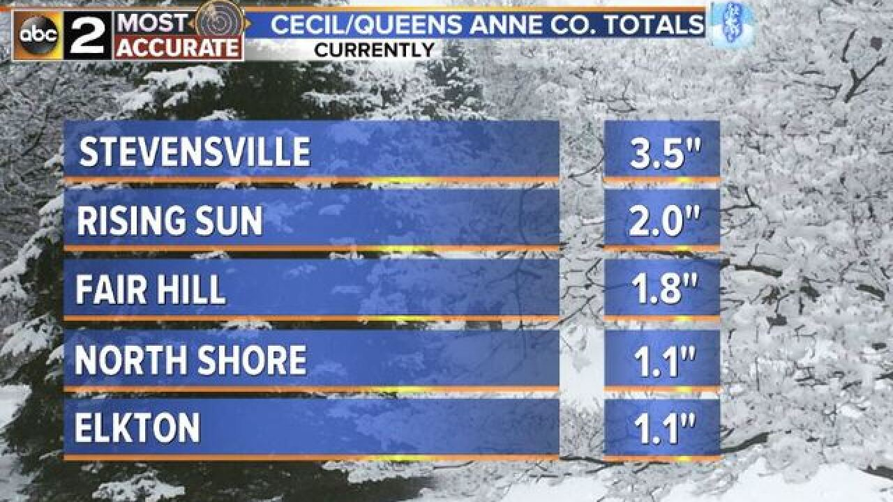 SNOW TOTALS:TUESDAY-WEDNESDAY'S STORM