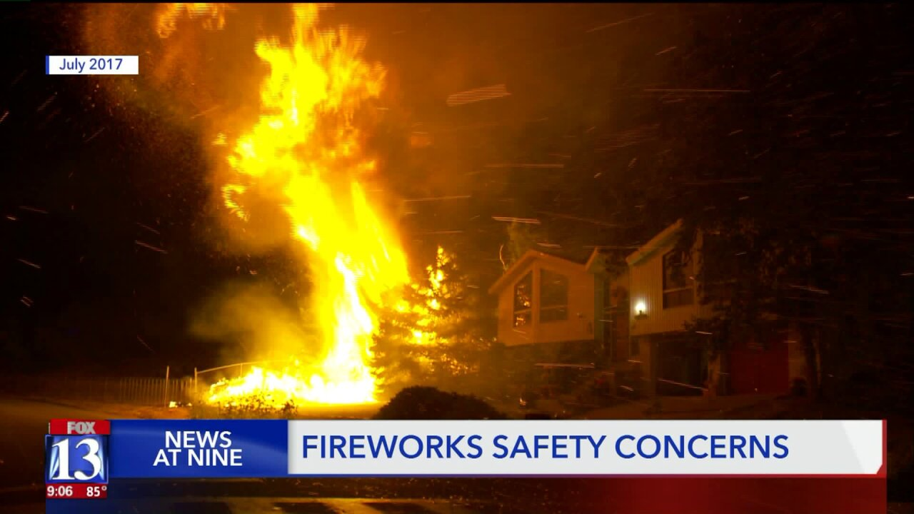 Be careful with fireworks, warn fire officials and man whose house almost burned down