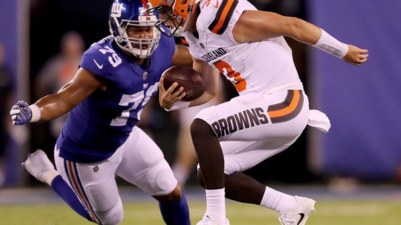 Browns release QB Roback in first wave of cuts