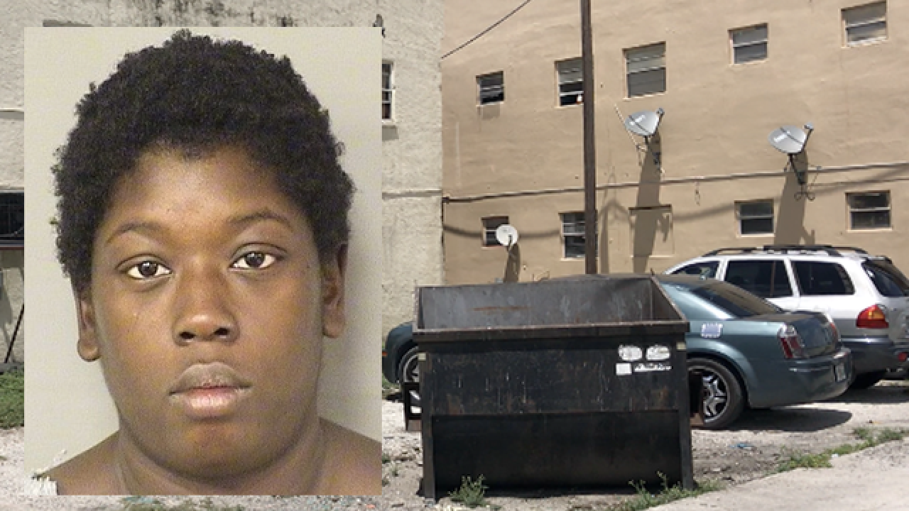 Woman accused of trying to throw one-month-old baby in garbage dumpster in Belle Glade