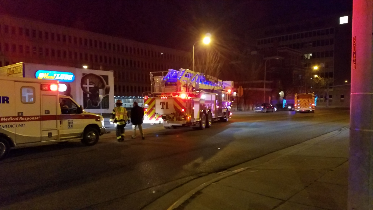 fire trucks outside library.PNG