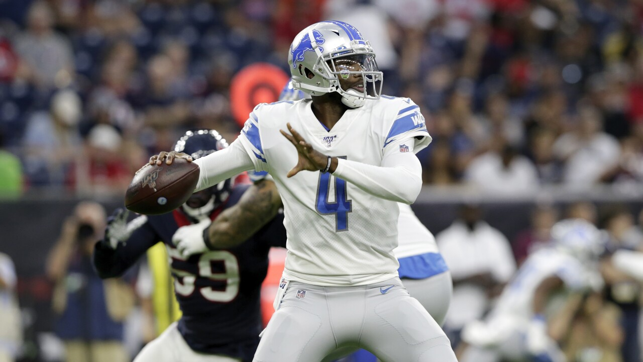 online store ff711 f1b1e Lions backup QB job up for grabs with Tom Savage injured