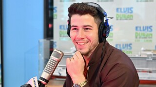 "Nick Jonas of the Jonas Brothers visits the ""Elvis Duran and the Z100 Morning Show"" at Z100 Studio on June 06, 2019 in New York City."