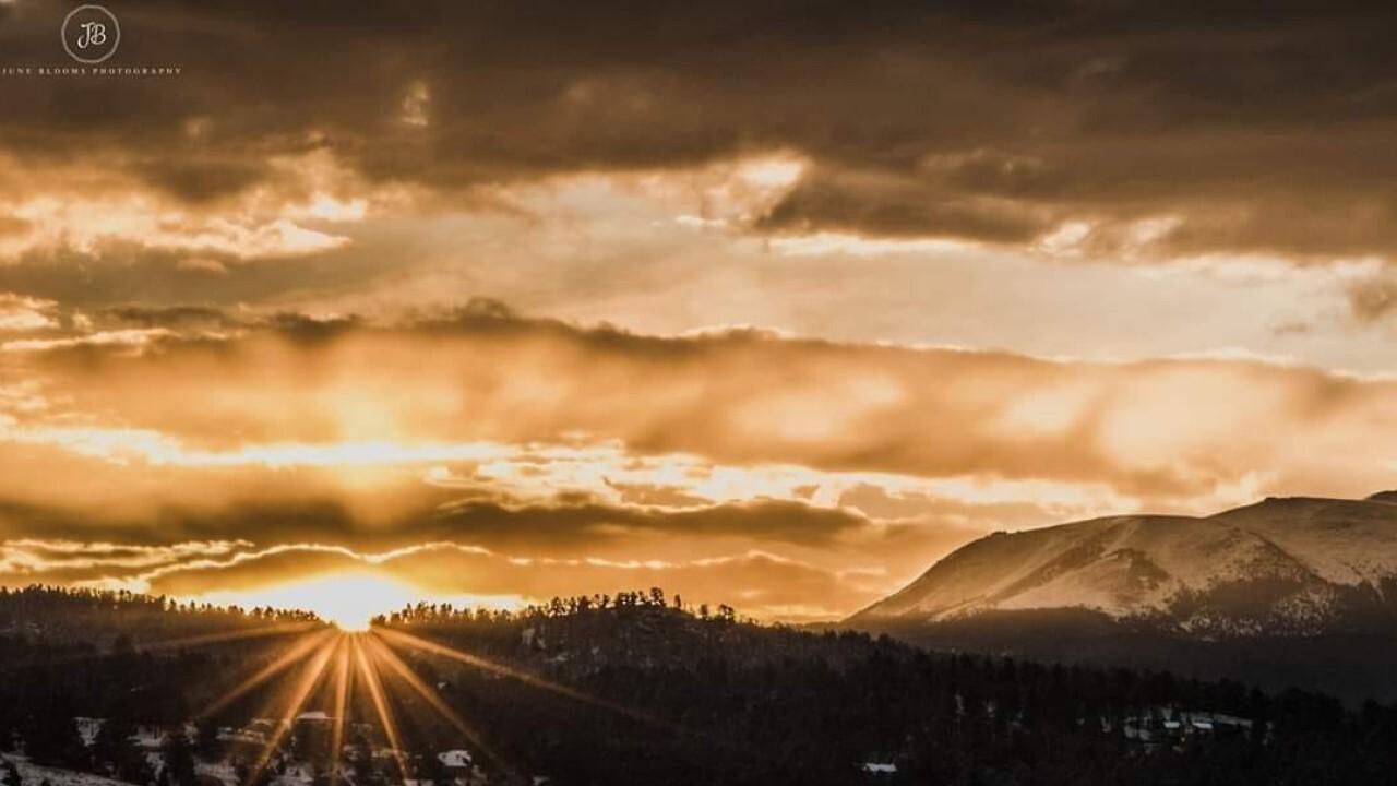 A heavenly Southern Colorado sunrise