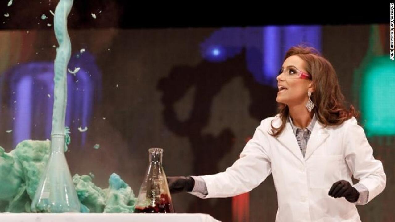 Newly-crowned Miss Virginia shows off science experiment for talent performance