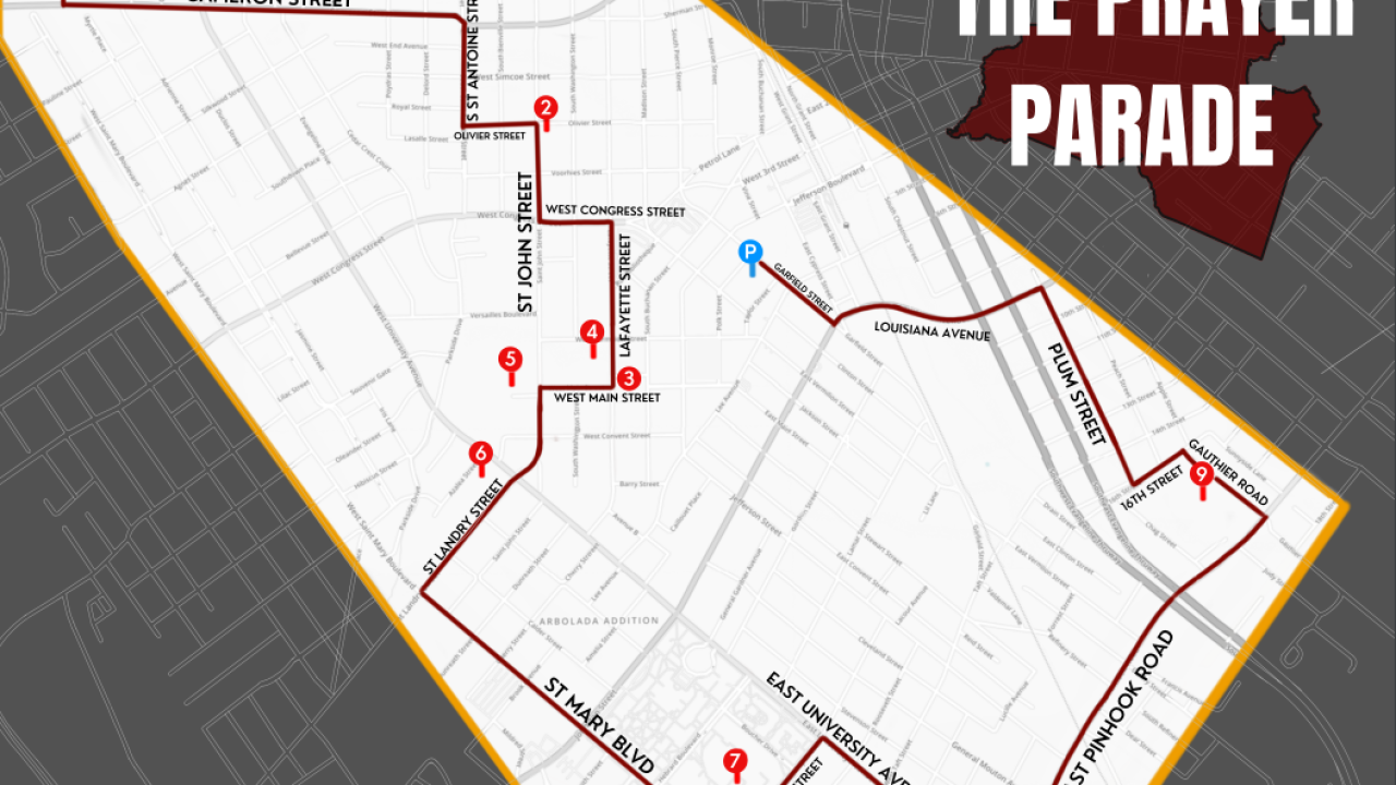 Lafayette prayer parade map.PNG