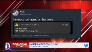 What was the deal with that weird 'gry Toyt' Amber Alert message?