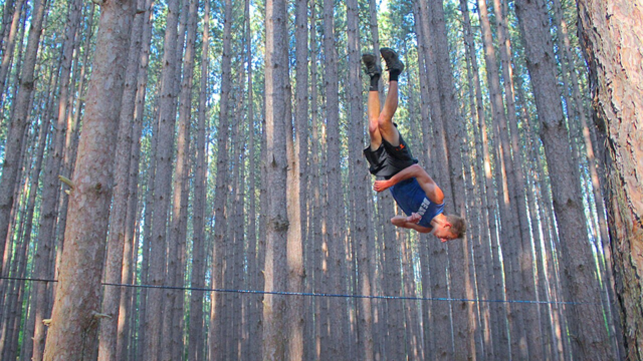 This guy's no slacker. At age 22, Ben Schneider already has his own slackline manufacturing business