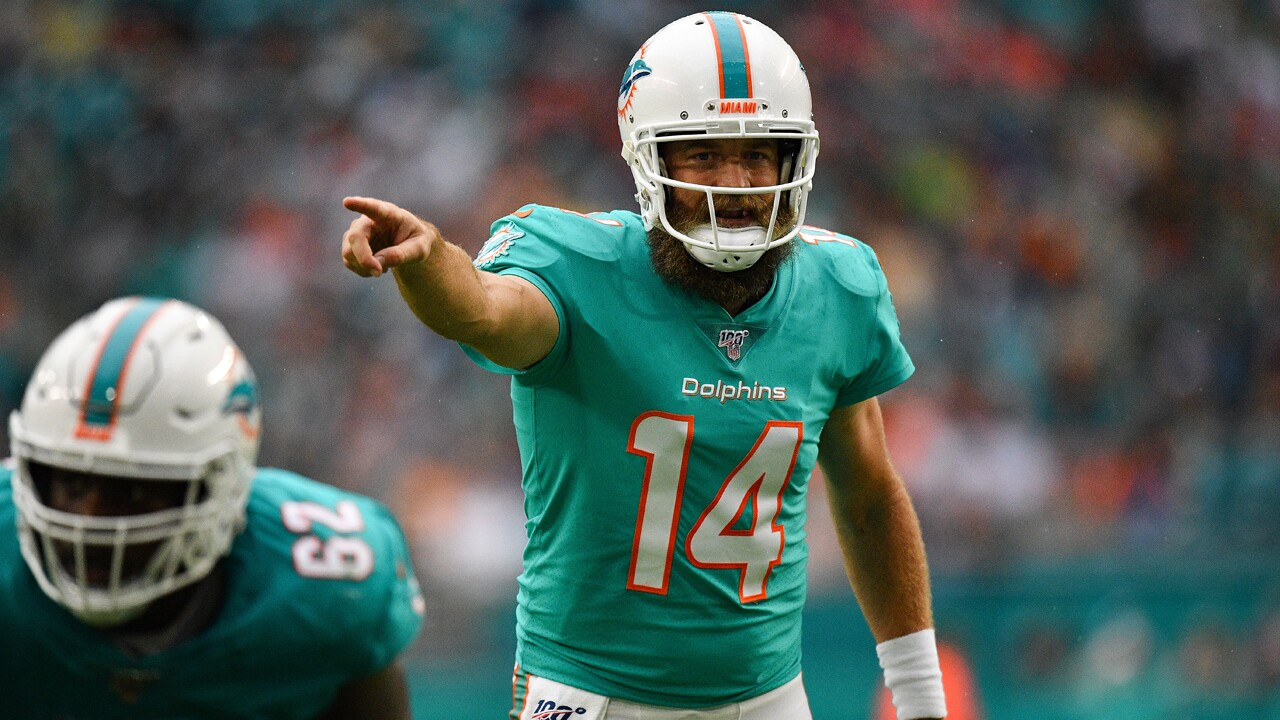 Dolphins MVP QB Ryan Fitzpatrick might not be back next season