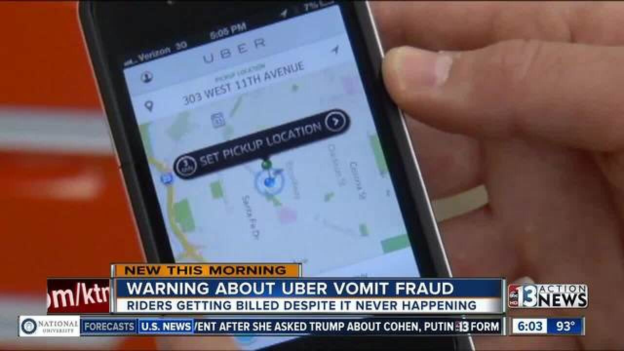 Uber drivers using 'vomit fraud' to scam riders