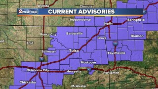 Winter weather advisory issued for Tulsa County until 6 a.m. Saturday