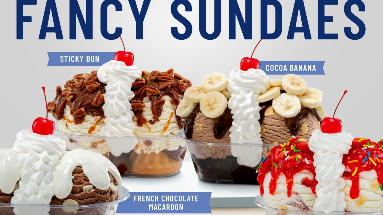 Braum's newest limited-time fancy sundaes for 2021.
