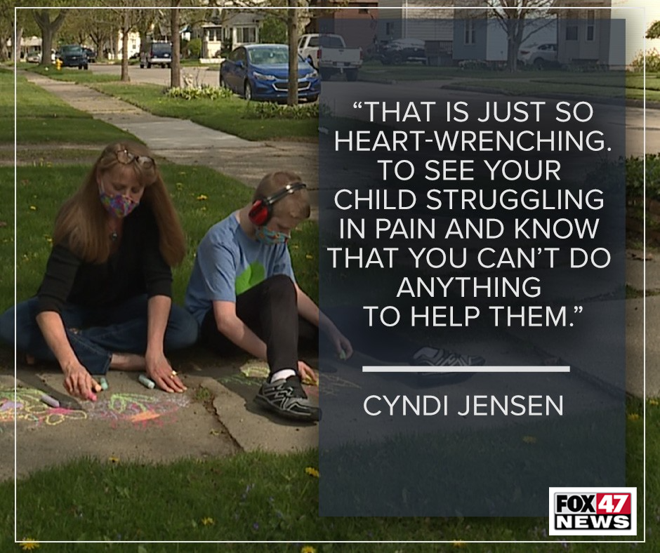 To see your child struggling in pain and know that you can't do anything to help them.