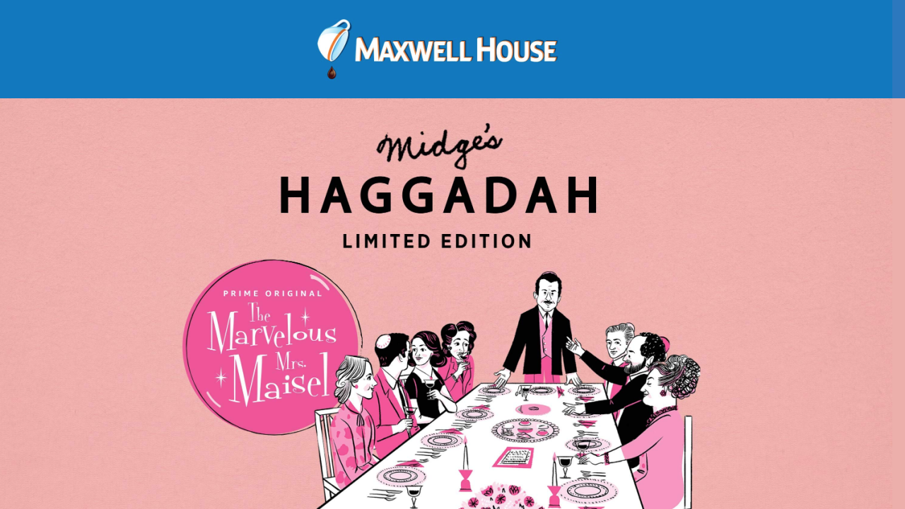 'Marvelous Mrs. Maisel'-themed Passover Haggadah available to Maxwell House customers