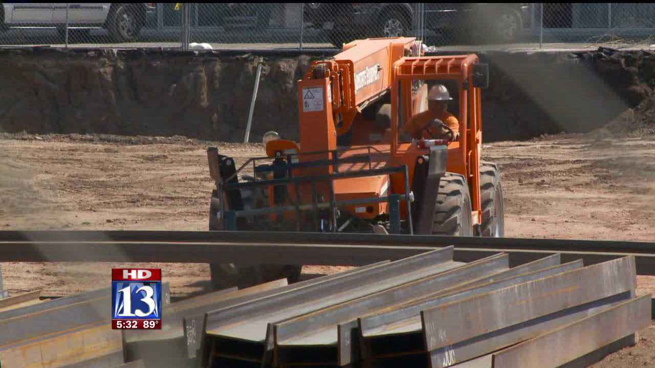 Construction over the 'Sugar Hole' begins