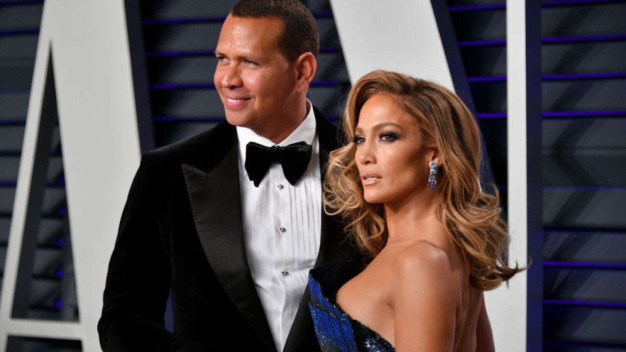 Jennifer Lopez and A-Rod are engaged. She autographed a poster for him 20 years ago