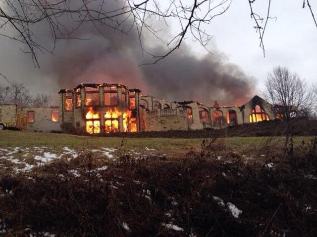 Scene of massive fire at Indian Hill home
