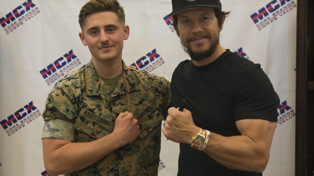 Mark Wahlberg meet and greet on MCB Camp Pendleton