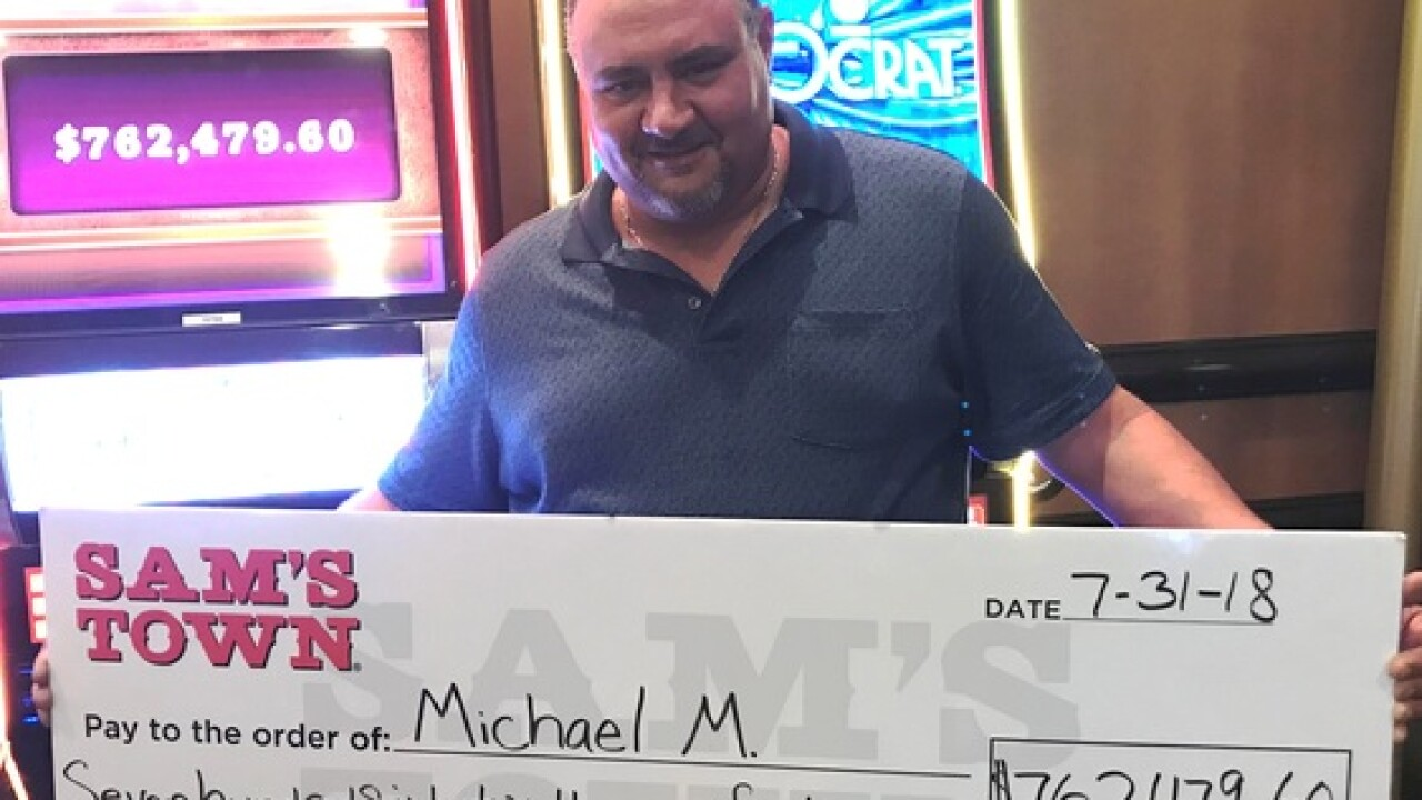 Las Vegas man wins $762,000 at Sam's Town