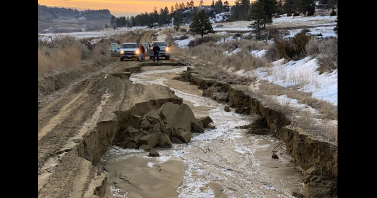 Road closures announced in Montana for flooding