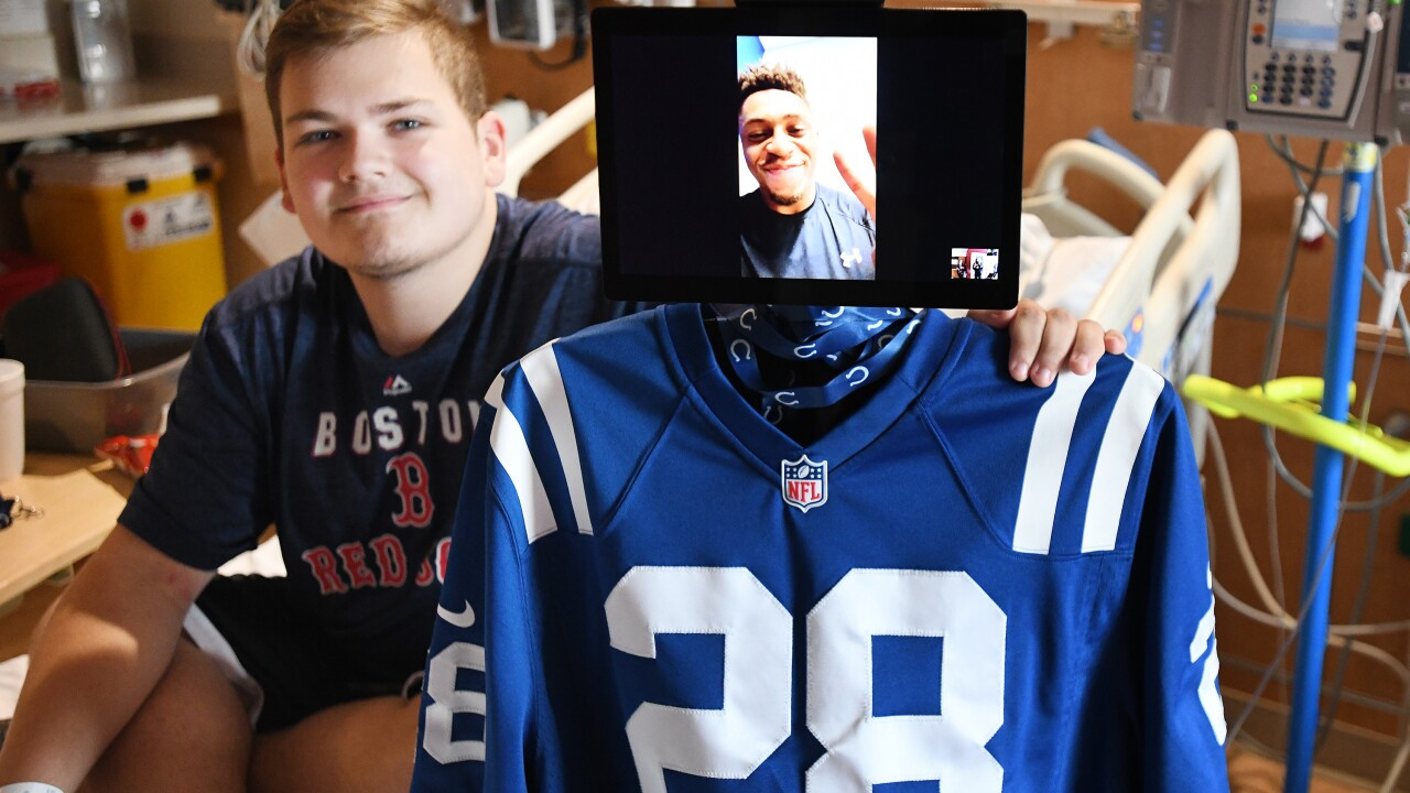Indianapolis Colts virtual robot visit, Riley, all patient releases were signed physically, not digitally.