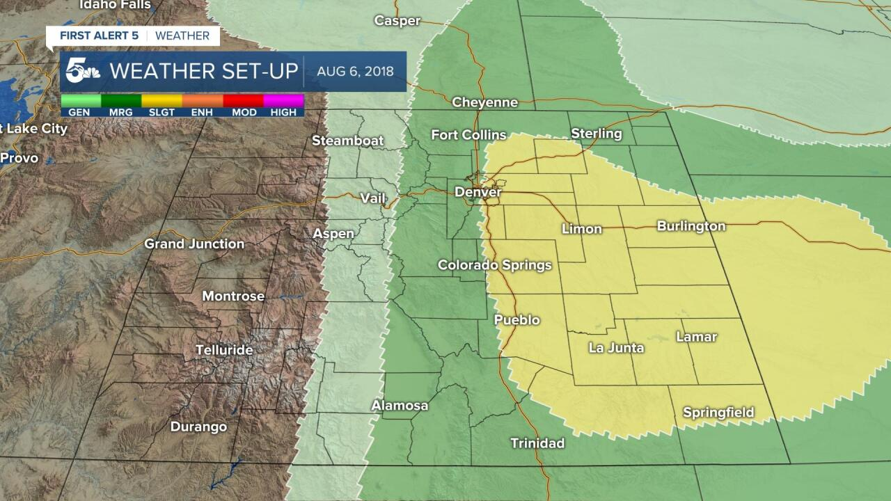 August 6th 2018 Hail Storm SPC Outlook