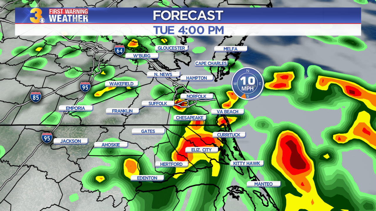 Tuesday's First Warning Forecast: Another humid day with more storms