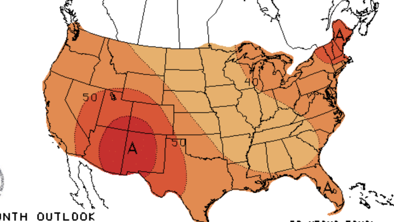 NOAA predicts a warm finish to 2019 across the United States