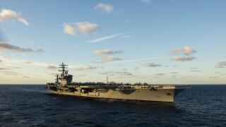 USS Dwight D. Eisenhower (CVN 69) transits the Atlantic Ocean