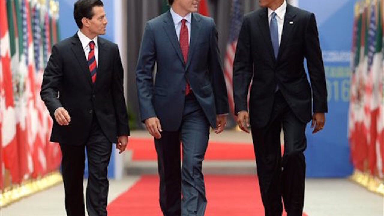Obama, Trudeau, Peña Nieto speak on free trade