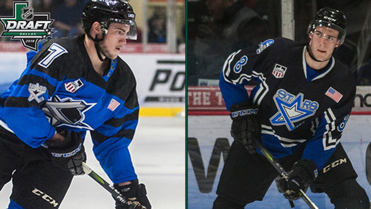 Incoming freshmen Christian and Cole Krygier selected in the NHL draft