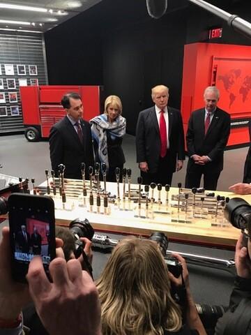 PHOTOS: President Trump speaks at Snap-on Tools Headquarters