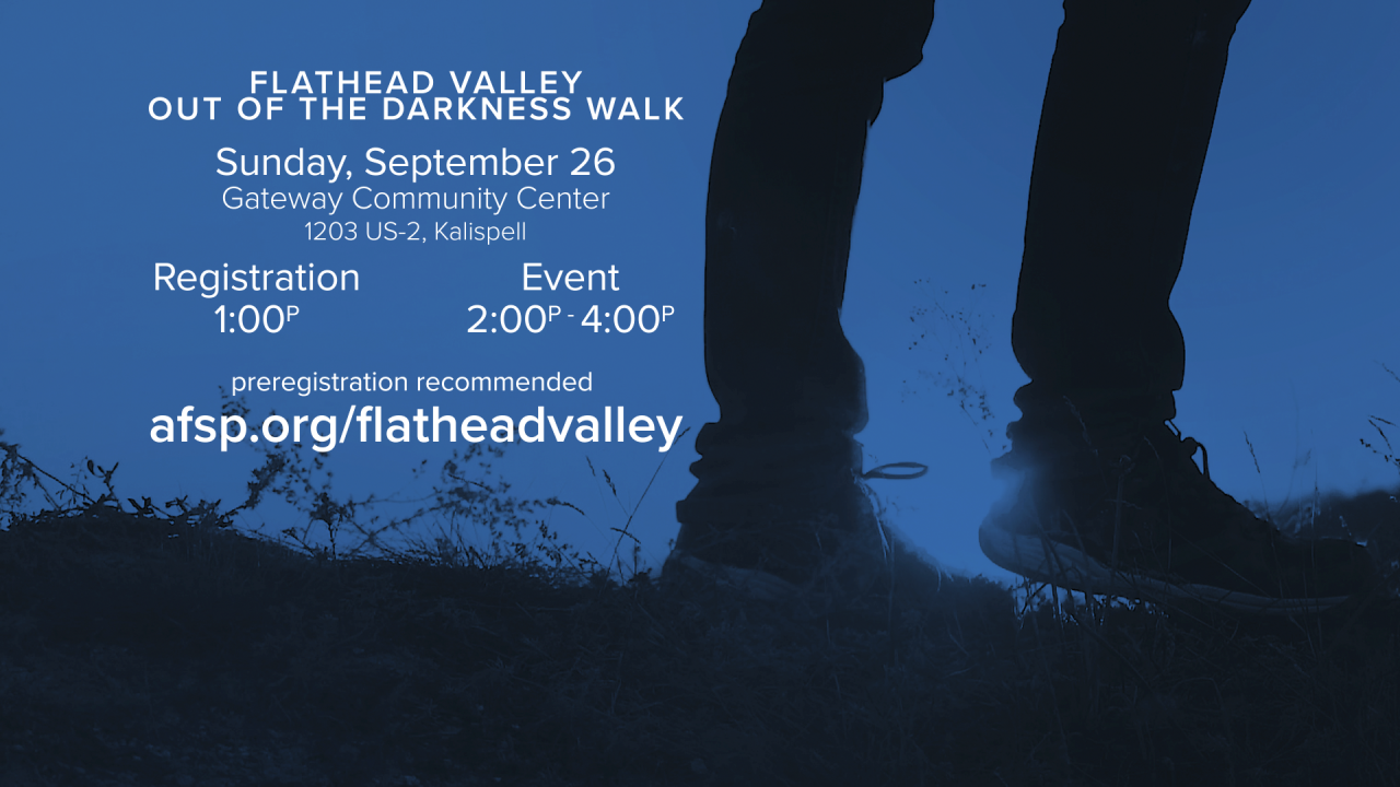 Flathead Out of Darkness Walk