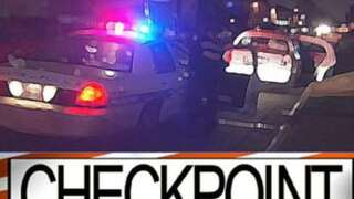 Police to conduct checkpoint