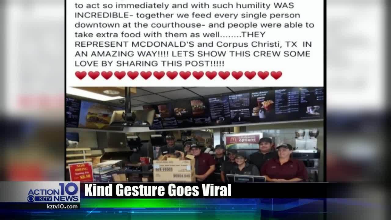 Good Samaritan and Corpus Christi McDonald's worker's good deed goes viral