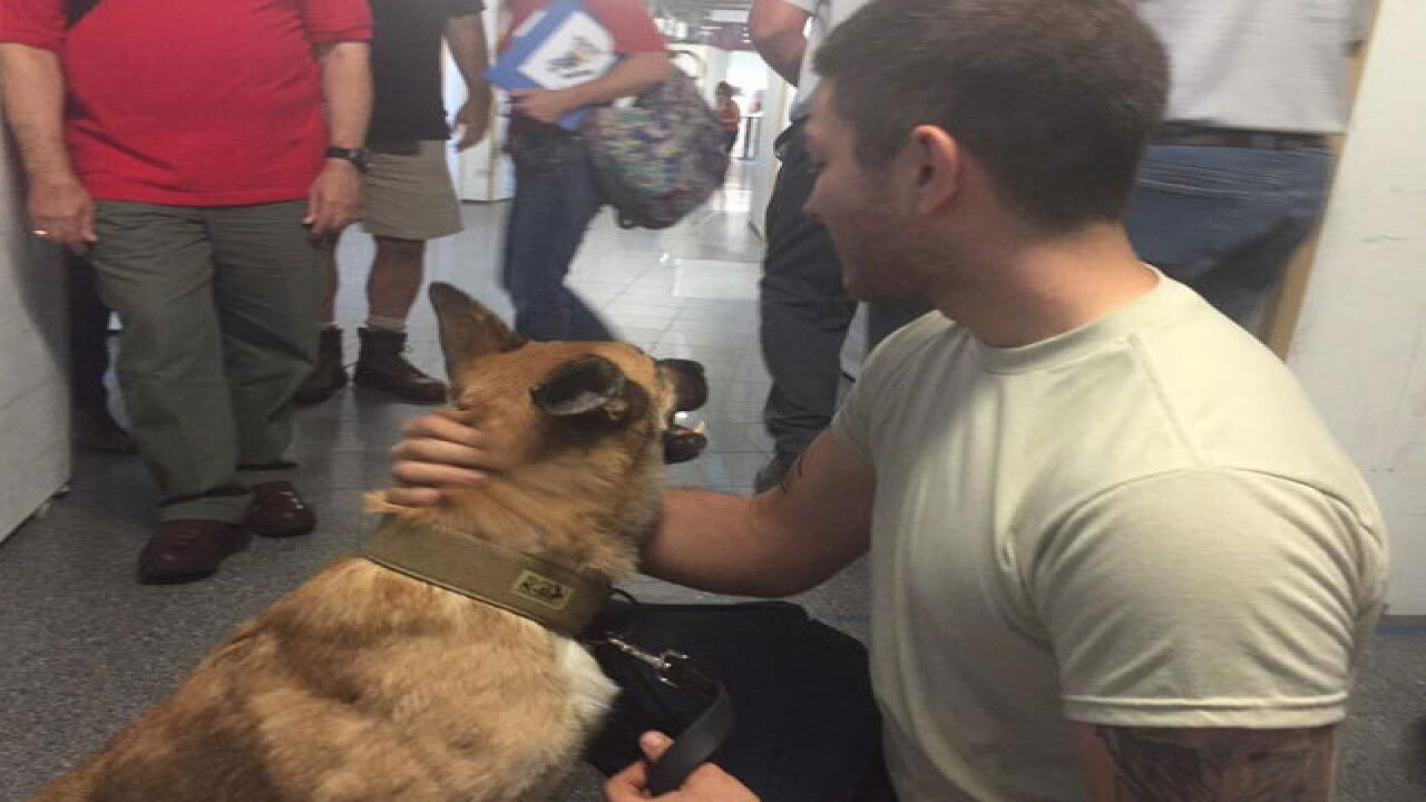 K9, soldier who served together reunited in CLE