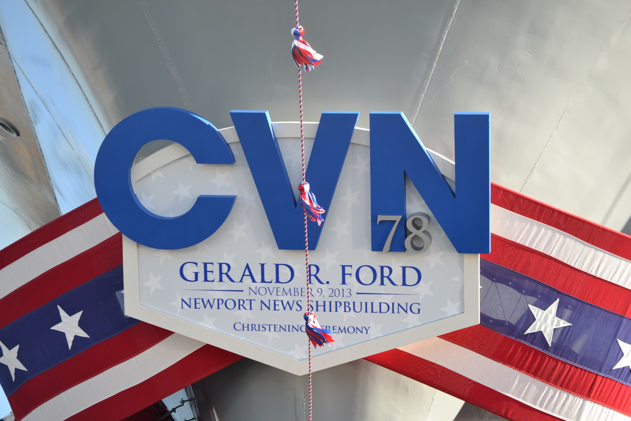 Photos: Aircraft carrier Gerald R. Ford officiallychristened
