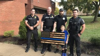Thank you to resident James Shelton, who presented Montgomery County 5th District officers with a wooden American Flag that he had made in recognition of National First Responders Day.  The flag will be displayed in the 5th District Station.