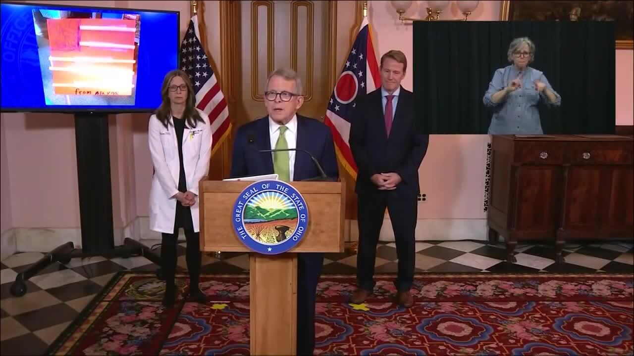 Gov Mike Dewine And State Health Director Amy Acton Hold Daily Covid 19 Briefing