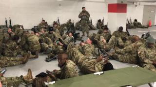 National Guard parking garage
