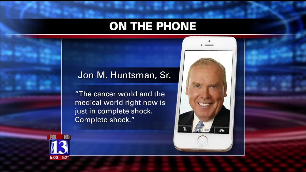 Jon Huntsman Sr. weighs in as protests continue over firing of CEO at Huntsman CancerInstitute